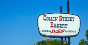 Iconic Collin Street Bakery Street Sign